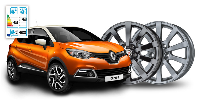 Alu Winterkomplettradsatz für Renault Capture